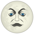 Full Moon With Face on emojidex 1.0.33
