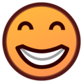 Grinning Face With Smiling Eyes on emojidex 1.0.33