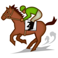 Horse Racing: Medium-Dark Skin Tone on emojidex 1.0.33