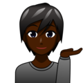Person Tipping Hand: Dark Skin Tone on emojidex 1.0.33