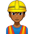Man Construction Worker: Medium-Dark Skin Tone on emojidex 1.0.33