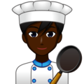 Man Cook: Dark Skin Tone on emojidex 1.0.33