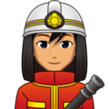 Man Firefighter: Medium Skin Tone on emojidex 1.0.33