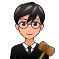Man Judge: Medium-Light Skin Tone on emojidex 1.0.33