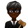 Man Judge: Dark Skin Tone on emojidex 1.0.33