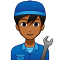 Man Mechanic: Medium-Dark Skin Tone on emojidex 1.0.33