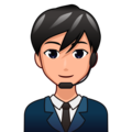 Man Office Worker: Medium-Light Skin Tone on emojidex 1.0.33