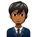 Man Office Worker: Medium-Dark Skin Tone on emojidex 1.0.33