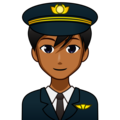 Man Pilot: Medium-Dark Skin Tone on emojidex 1.0.33