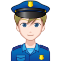 Man Police Officer: Light Skin Tone on emojidex 1.0.33