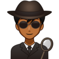 Man Detective: Medium-Dark Skin Tone on emojidex 1.0.33