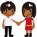 Man and Woman Holding Hands, Type-5 on emojidex 1.0.33