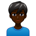 Man Frowning: Dark Skin Tone on emojidex 1.0.33