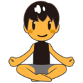 Man in Lotus Position on emojidex 1.0.33