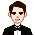 Man in Tuxedo: Light Skin Tone on emojidex 1.0.33