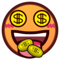 Money-Mouth Face on emojidex 1.0.33