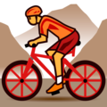 Person Mountain Biking on emojidex 1.0.33