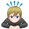 Person Bowing: Light Skin Tone on emojidex 1.0.33