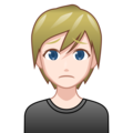 Person Frowning: Light Skin Tone on emojidex 1.0.33