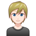 Blond-Haired Person: Light Skin Tone on emojidex 1.0.33