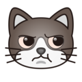 Pouting Cat Face on emojidex 1.0.33