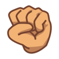 Raised Fist: Medium Skin Tone on emojidex 1.0.33