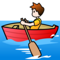 Person Rowing Boat: Light Skin Tone on emojidex 1.0.33