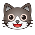 Smiling Cat Face With Open Mouth on emojidex 1.0.33