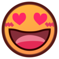 Smiling Face With Heart-Eyes on emojidex 1.0.33