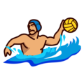Person Playing Water Polo: Medium Skin Tone on emojidex 1.0.33