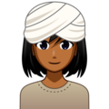 Woman Wearing Turban: Medium-Dark Skin Tone on emojidex 1.0.33