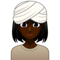 Woman Wearing Turban: Dark Skin Tone on emojidex 1.0.33