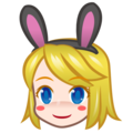 Woman With Bunny Ears, Type-1-2 on emojidex 1.0.33