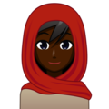 Woman With Headscarf: Dark Skin Tone on emojidex 1.0.33