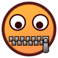 Zipper-Mouth Face on emojidex 1.0.33