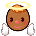 Baby Angel: Medium-Dark Skin Tone on emojidex 1.0.34