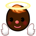 Baby Angel: Dark Skin Tone on emojidex 1.0.34