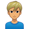 Blond-Haired Man: Medium Skin Tone on emojidex 1.0.34