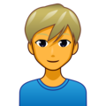 Blond-Haired Man on emojidex 1.0.34