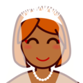 Bride With Veil: Medium-Dark Skin Tone on emojidex 1.0.34