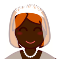Bride With Veil: Dark Skin Tone on emojidex 1.0.34