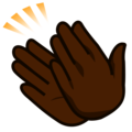Clapping Hands: Dark Skin Tone on emojidex 1.0.34