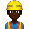 Construction Worker: Dark Skin Tone on emojidex 1.0.34