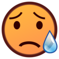 Sad but Relieved Face on emojidex 1.0.34