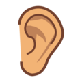 Ear: Medium Skin Tone on emojidex 1.0.34