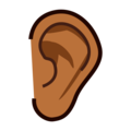 Ear: Medium-Dark Skin Tone on emojidex 1.0.34