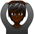 Person Gesturing OK: Dark Skin Tone on emojidex 1.0.34