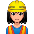 Woman Construction Worker: Medium-Light Skin Tone on emojidex 1.0.34