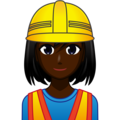 Woman Construction Worker: Dark Skin Tone on emojidex 1.0.34