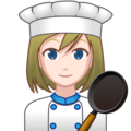 Woman Cook: Light Skin Tone on emojidex 1.0.34